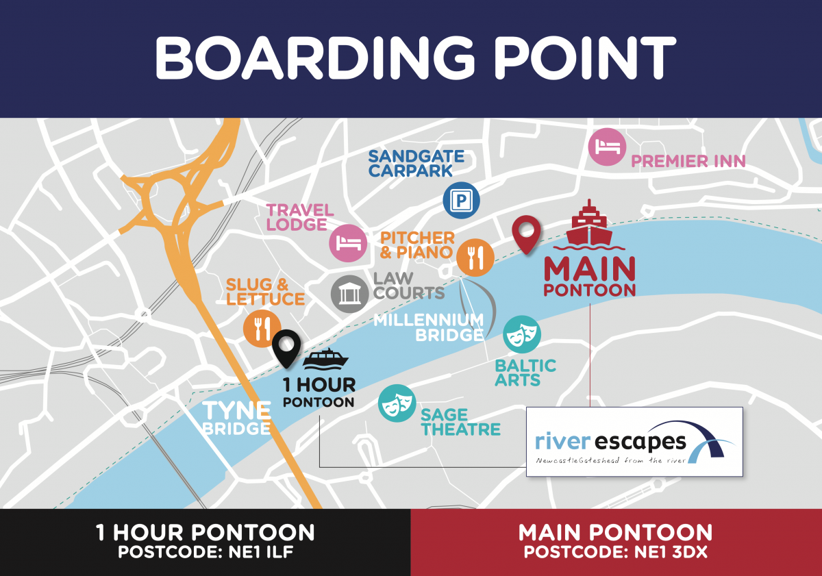 Tyne river cruises boarding point